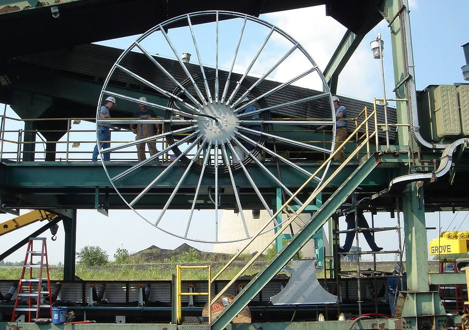 stacker cable reel