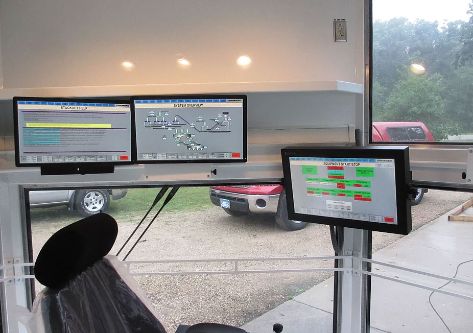 Testing a new operator cab prior to installation