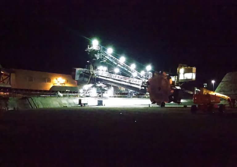 Bucket Wheel Stacker Reclaimer New Lighting