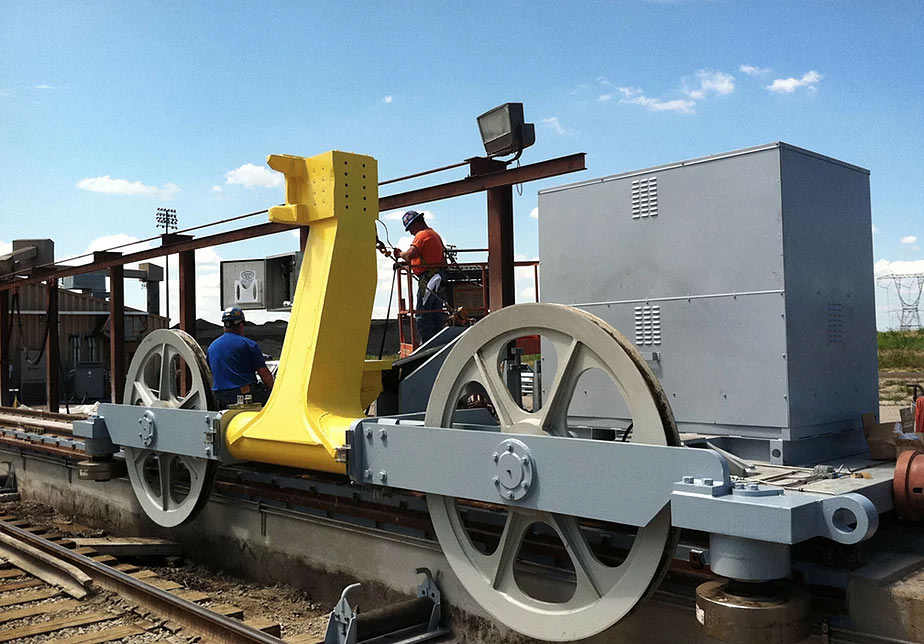 indexing train car positioner