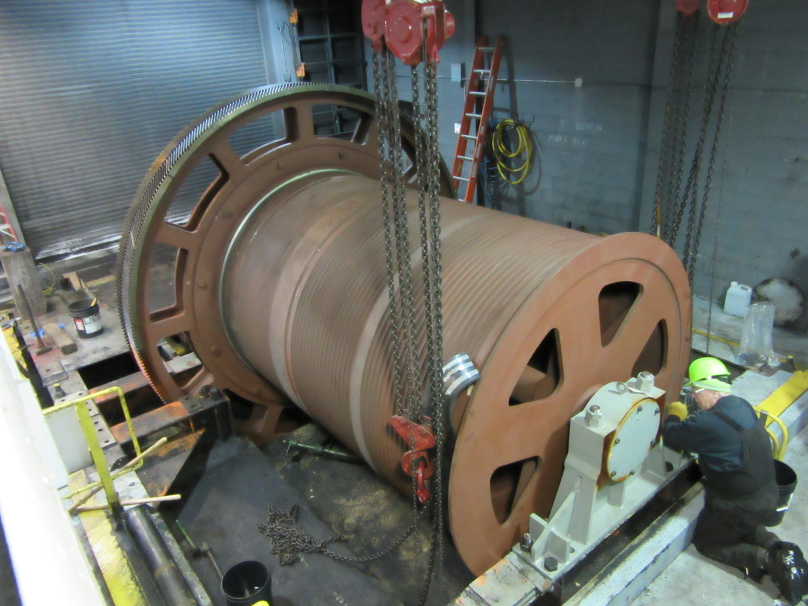 Barney Railcar Positioner Drum Replacement