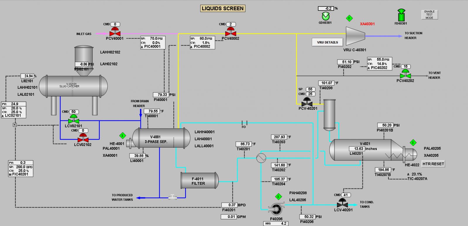 Oil & Gas Programming Screen